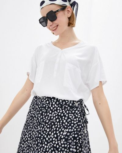 Белая блузка с короткими рукавами Luhta