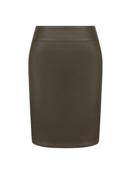 Кожаная юбка - зеленая Helmut Lang