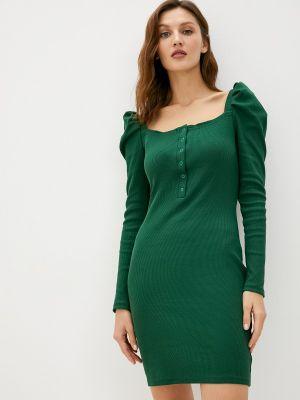 Зеленое прямое платье Trendyangel