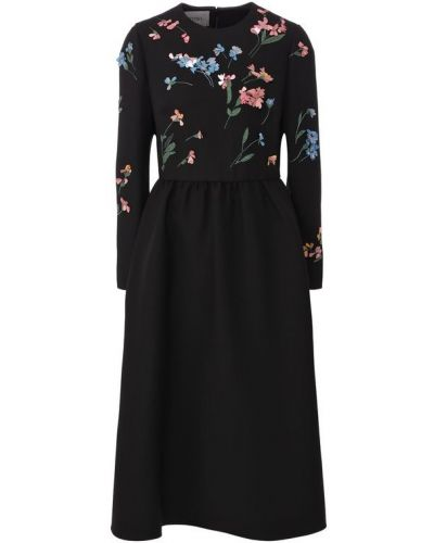 Платье миди шелковое приталенное Valentino