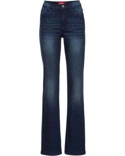 Широкие джинсы стрейч расклешенные Bonprix