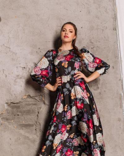 Повседневное шелковое прямое летнее платье Vovk