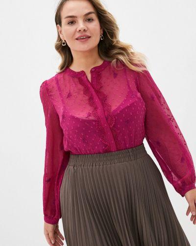 Розовая блузка с длинными рукавами Junarose