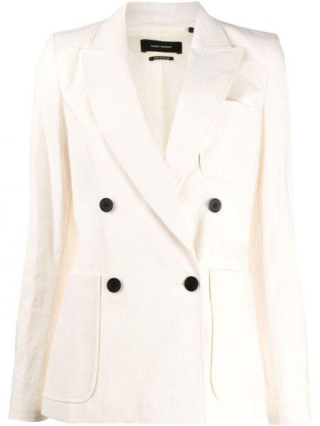 Хлопковый пиджак двубортный с накладными карманами Isabel Marant