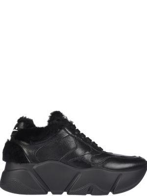 Черные кроссовки на платформе Voile Blanche