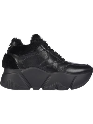 Кожаные кроссовки - черные Voile Blanche