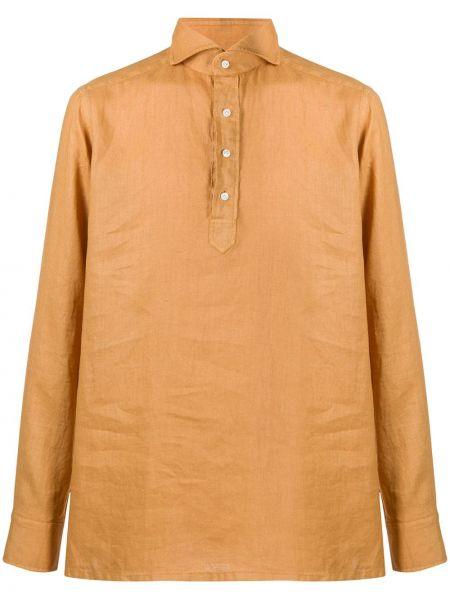 Koszula z długim rękawem żółty prosto Tagliatore