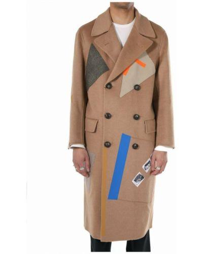 Brązowy płaszcz Raf Simons