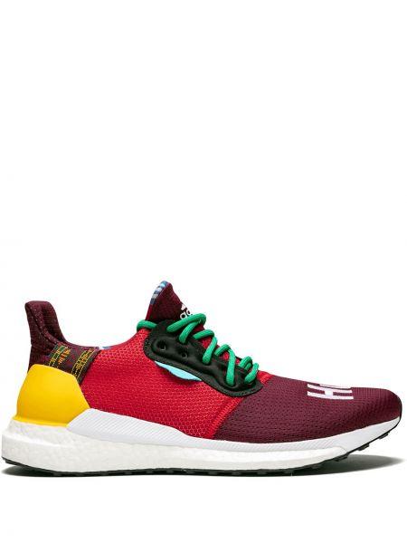 Zielone sneakersy do biegania sznurowane koronkowe Adidas By Pharrell Williams