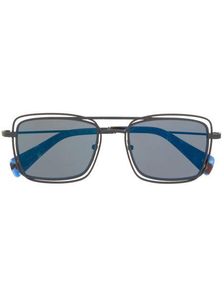 Niebieskie okulary Yohji Yamamoto