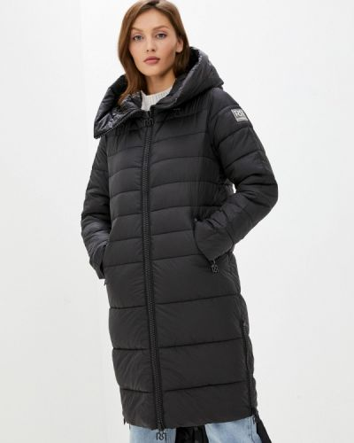 Теплая черная утепленная куртка Rinascimento