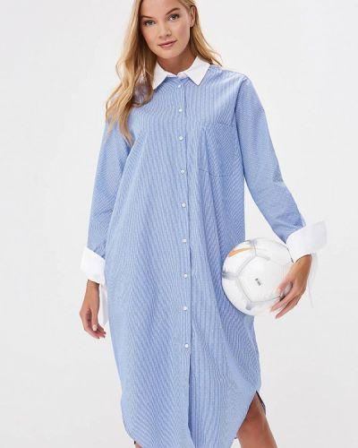 Голубое платье рубашка Imperial