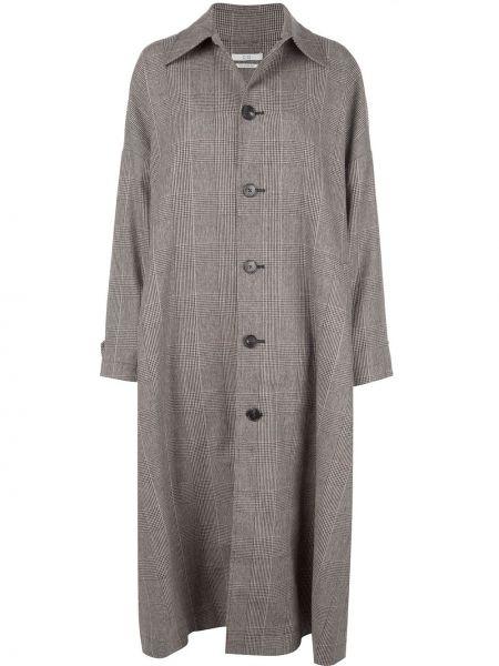 Длинное пальто с капюшоном на пуговицах Co