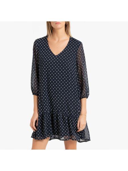 Платье с прозрачными рукавами с V-образным вырезом La Redoute