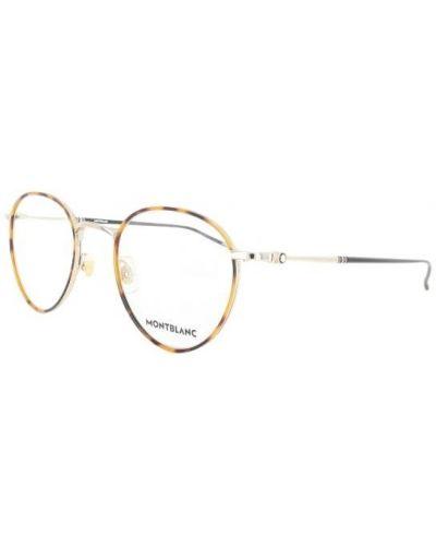 Pomarańczowe okulary Montblanc