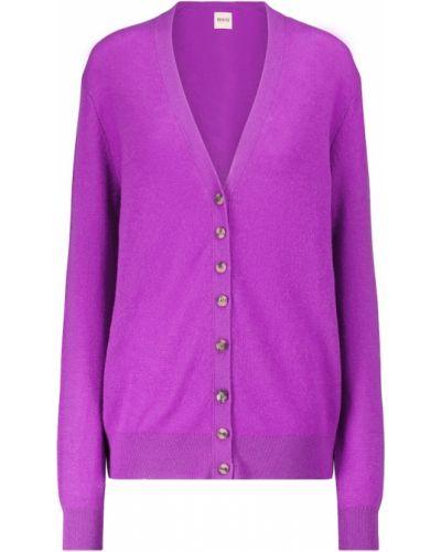 Фиолетовый кашемировый кардиган Khaite