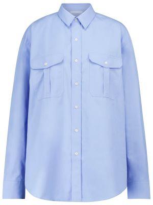 Niebieska koszula bawełniana do pracy Wardrobe.nyc