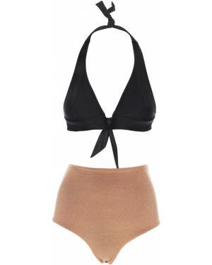 Czarny bikini z wysokim stanem Albertine