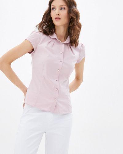 Розовая блузка с короткими рукавами Blauz