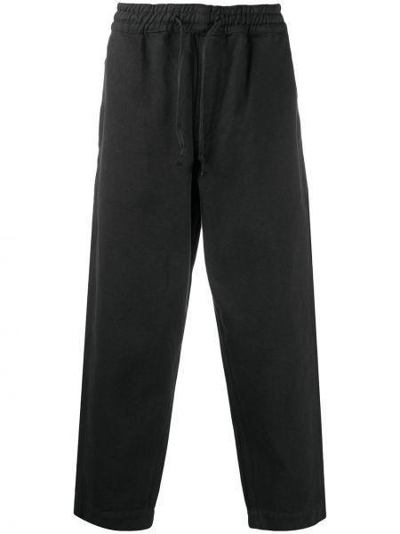 Bezpłatne cięcie ze sznurkiem do ściągania bawełna czarny przycięte spodnie Ymc