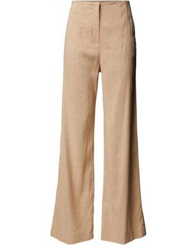 Beżowe spodnie z wiskozy Marc Cain