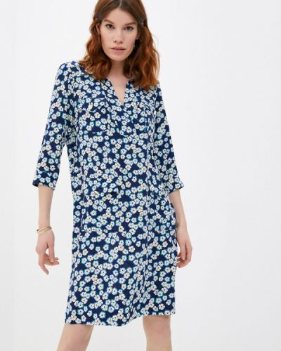 Прямое синее платье Gerard Darel