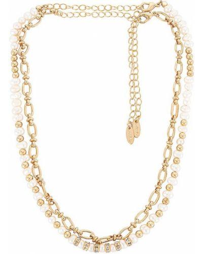 Złoty naszyjnik perły miejski Ettika