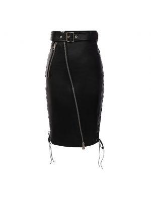 Черная юбка из вискозы Manokhi