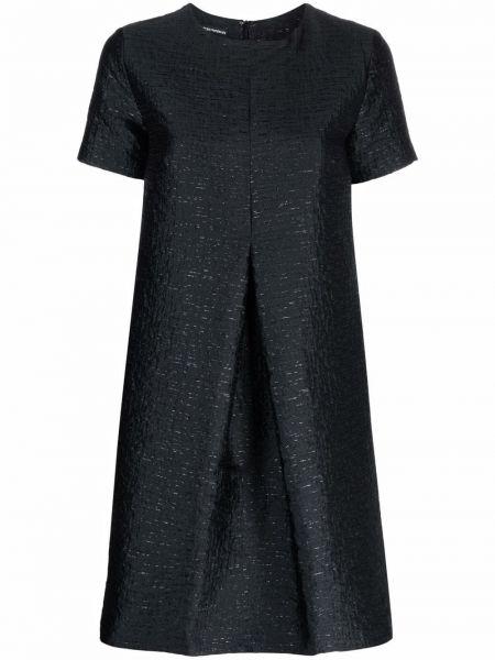Черное платье с вырезом Emporio Armani