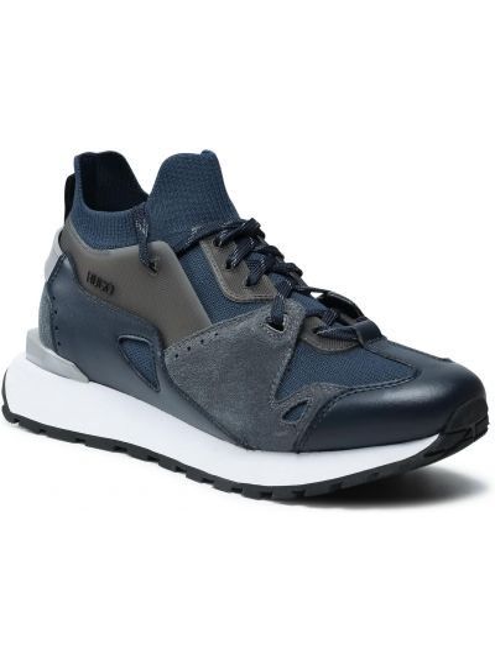 Buty sportowe skorzane - niebieskie Hugo