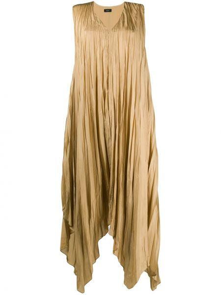 Шелковое платье - желтое Joseph