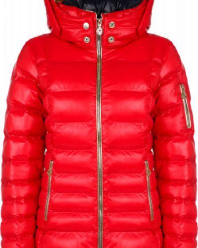 Утепленная красная куртка на молнии Sportalm