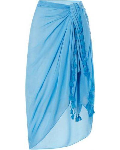 Niebieski pareo z wiskozy Barts