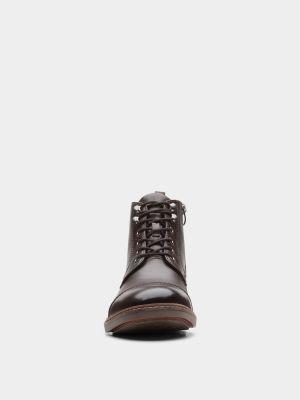 Ботильоны на шнуровке - коричневые Clarks