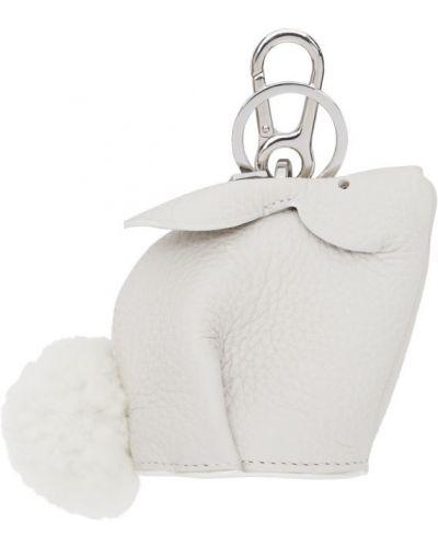 Biały charms srebrny Loewe