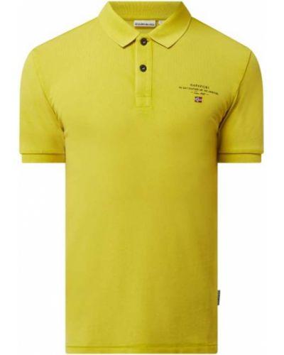 Żółty t-shirt bawełniany Napapijri