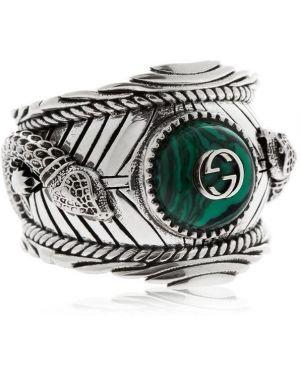 Pierścień z ozdobnym wykończeniem srebro Gucci