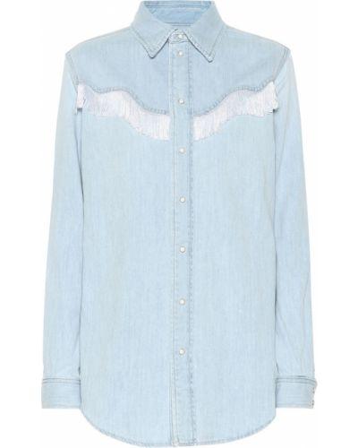 Bawełna niebieski bawełna koszula jeansowa Ganni