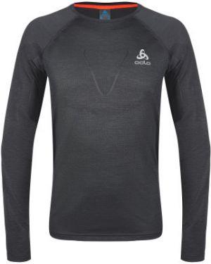 Спортивная серая приталенная футболка для бега Odlo