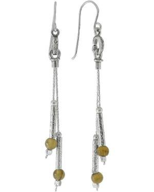 Серебряные серьги удлиненные серебряный Den'o