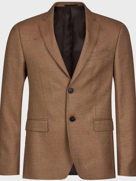 Шерстяной пиджак - коричневый Lab. Pal Zileri