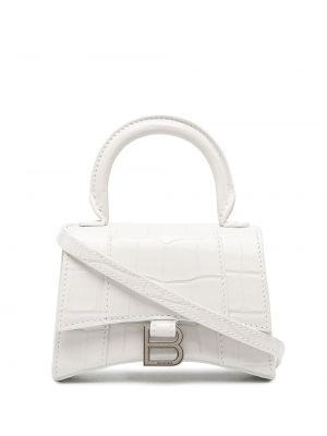 Белая кожаная сумка-тоут с тиснением Balenciaga