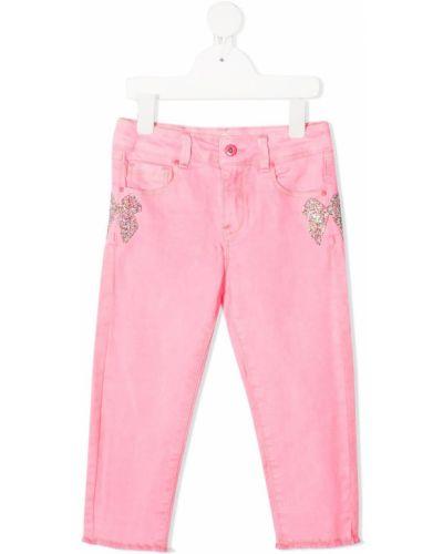 Klasyczne niebieskie jeansy rurki z wysokim stanem Billieblush