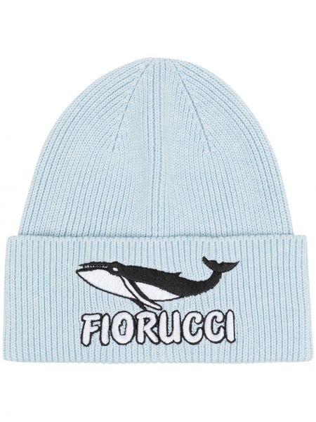 Niebieska czapka bawełniana Fiorucci