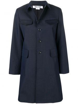 Синее пальто классическое с воротником с карманами Comme Des Garçons Comme Des Garçons