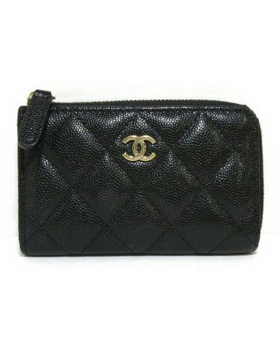 Czarny włoski portfel Chanel Vintage