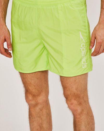 Зеленые плавки однотонные Speedo