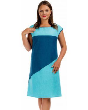 Платье трапеция - бирюзовое Liza Fashion