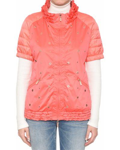 Коралловая нейлоновая куртка Diego M