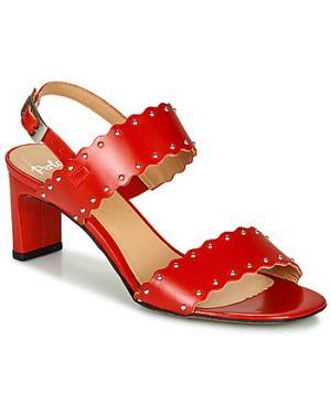 Czerwone sandały Perlato